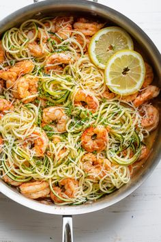 Healthy Shrimp Scampi Combines The Classic Flavors Of The Dish With Simple Swaps Like Using Zoodles Zucchini Noodles Instead Of Pasta For A Lighter Meal Shrimp Recipes Low Carb Meals Summer Recipes Healthy Shrimp Scampi, Shrimp Scampi With Zoodles, Shrimp Scampi Pasta, Low Carb Shrimp Recipes, Shrimp Meals, Simple Shrimp Recipes, Low Carb Summer Recipes, Summer Pasta Recipes, Spaghetti Recipes