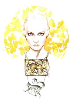 António Soares fashion illustrations António... | Fashionary Hand - A Fashion Illustration Blog