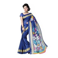 Bhagalpuri Saree | Printed saree | Cotton saree | With Blouse | Color: Multicolor Material for Body & Border: Poly Cotton Saree Length: 6.3 Mts Blouse Included: Yes