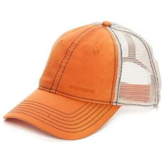 Stetson Orange Trucker Cap ($21) ❤ liked on Polyvore featuring men's fashion, men's accessories, men's hats, orange and stetson mens hats