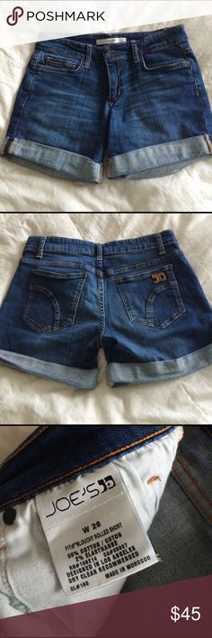 "🆕 Joe's denim cuffed shorts Rihanna wash 5 pocket zip fly. 4"" inseam EUC! Joe's Jeans Jeans"