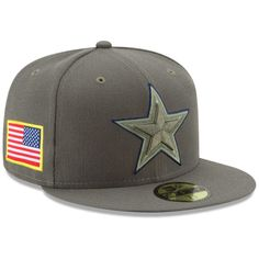 5710319495e Dallas Cowboys New Era Youth 2017 Salute To Service 59FIFTY Fitted Hat –  Olive