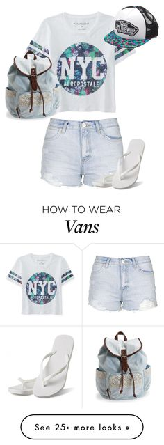 """""""Go to the beach"""" by cutiecat14 on Polyvore featuring Aéropostale, Topshop, Hotmarzz, Vans, women's clothing, women's fashion, women, female, woman and misses"""