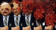 """Una cabeza explota en """"Scanners"""" (1981). Una de las pelis más comerciales de Cronenberg."""