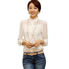 Lantomall Damen Lace Kleider T-Shirt Spitzenbluse Bluse Basic Abendkleid Clubwear Bodenbildung Shirt