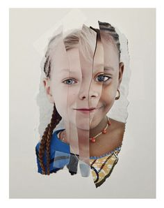 Kollaasi - Hopenhagen by John Clang. This would also be lovely using photo's of your child taken at different ages Collages, Collage Kunst, Collage Art, Photomontage, John Clang, Face Collage, Identity Art, Cultural Identity, A Level Art