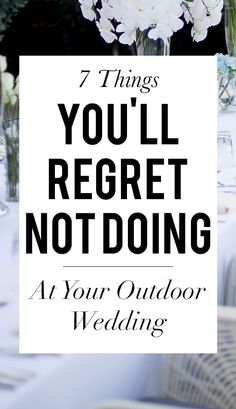 Backyard Wedding Discover 9 Things Youll Regret Not Doing At Your Outdoor Wedding Find out what they are on SHEfinds. Before Wedding, Wedding Tips, Fall Wedding, Wedding Events, Wedding Ceremony, Destination Wedding, Dream Wedding, Small Wedding Receptions, Outdoor Wedding Reception