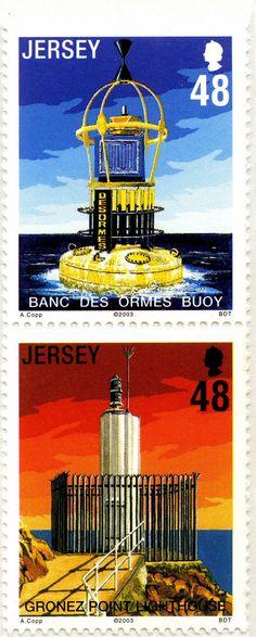 Faros de Jersey (II): Boya Banc des Ormes y faro de Gronez Point: Jersey. 2003