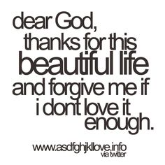 if I don't love it enough...
