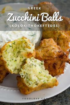 Greek Recipes Greek zucchini balls (kolokithokeftedes) are crisp on the outside and fluffy on the inside, flavored with salty feta and fresh mint. Perfect as a party appetizer or a light meal. Vegetable Dishes, Vegetable Recipes, Vegetarian Recipes, Cooking Recipes, Healthy Recipes, Healthy Food, Greek Food Recipes, Best Food Recipes, Best Greek Food