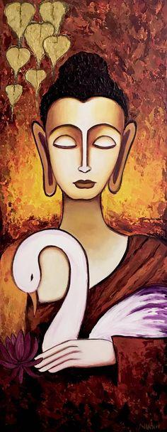 Buddha painting Buddhism Spiritual art Indian art Yoga