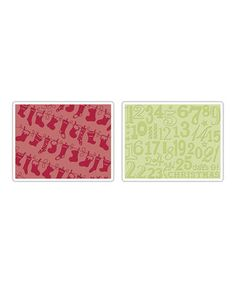 Another great find on #zulily! Rachael Bright Christmas Stocking Embossing Folder Set by Sizzix #zulilyfinds