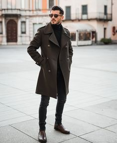 Winter Fashion Outfits, Look Fashion, Best Winter Outfits Men, Best Casual Shirts, Business Attire For Men, Style Masculin, Men With Street Style, Men Street, Herren Outfit