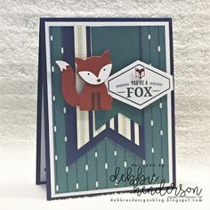 Debbie's Designs: Stampin' Up! True Gentleman Suite of Products. True Gentleman Buttons, Tailored Tag Punch, True Gentleman Designer Paper, Fox Builder Punch, Truly Tailored stamp set.Four Fold Card Fold, Z Fold, Gable Box. Debbie Henderson #gentlemansuite #tailoredtag #scrapbooking #layout #masculine #debbiehenderson #fourfold #card fold #debbiesdesigns #stampinup #gablebox #foxpunch