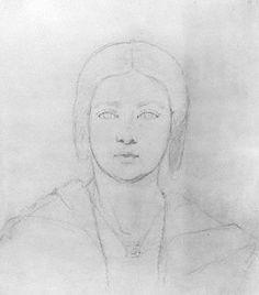 Queen Victoria  by Sir Francis Leggatt Chantrey  pencil, circa 1839