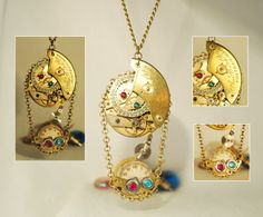 Handcrafted Steampunk Pendant Necklace handmade by CosmicRobot1, £19.00