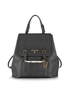 Patrizia Pepe Black Leather Backpack