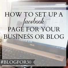 12. of #Blogfor30: How to create a Facebook page for your business or blog Business Notes, Business Stories, Business Journal, Business Tips, Content Marketing Strategy, Marketing Communications, Media Marketing, Facebook Marketing, Business Storytelling