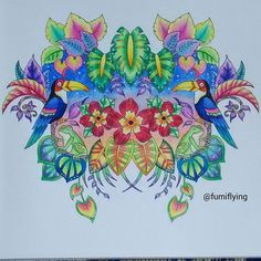 Inspirational Coloring Pages by @fumiflying #magicaljungle #selvamagica…