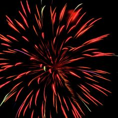 Multicolored Fireworks 2 by Cynthia Woods