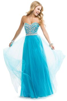 2014 Grecian Goddess Tulle Embellished Jewel Prom Dress Ice Blie