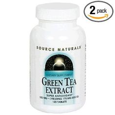 Source Naturals Green Tea Extract 120 Tablets (Pack of - - Dietary supplement. (yielding 175 mg EGCG). Amino Acid Supplements, Natural Supplements, Green Coffee Extract, Lactobacillus Acidophilus, Colon Health, Natural Vitamin E, Green Tea Benefits, Oxidative Stress, Herbalism