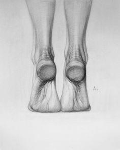 Nice Sketch by Andrey Samarin Human Anatomy Drawing, Anatomy Art, Figure Sketching, Figure Drawing Reference, Anatomy Sketches, Art Sketches, Feet Drawing, Academic Drawing, Realistic Eye Drawing