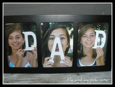 A gift Dad is sure to love. Save on wooden letters with coupons from Joann Fabric: http://www.coupons.com/coupon-codes/joann.com/    Save on photo prints with coupons from Walgreens: http://www.coupons.com/coupon-codes/walgreens/
