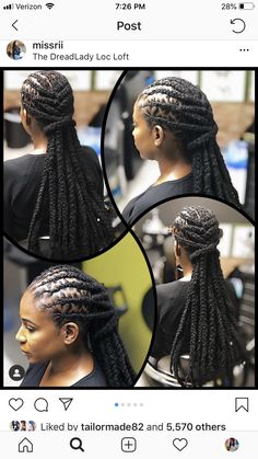 Y'all know Thursday is Wig Day! Per usual did her thang ❤️❤️❤️ Dreadlock Hairstyles For Men, Dreadlock Styles, Cool Hairstyles, Locs Styles, Black Hairstyles, Dreads Styles For Women, Beautiful Dreadlocks, Dreads Girl, Natural Hair Styles