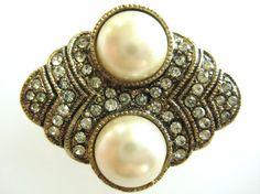 Vintage Hobe' Art Deco Pearl KeeperEnhancer by zoeJaneJewels1, $35.00
