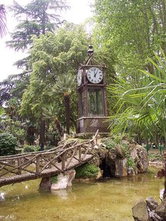 Water Clock in the Borghese Villa Gardens, Rome, Italy