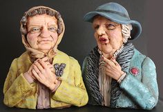The Gossips / Les Commères Art by Independent Artists, Sculptures, Sculptures Author: Andrew Black