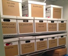 Our Hobby House: Organizing with Bankers Boxes Storage Rental, Storage Room Organization, Studio Organization, Basement Storage, Craft Storage, Garage Storage, Closet Organizer With Drawers, Business Storage, Moving And Storage