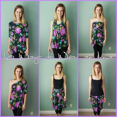 LuLaRoe Style Inspiration: 6 Ways to Wear an Irma // LuLaRoe Sarah Adams // safariwithsarah.com