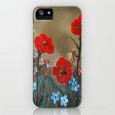 Impasto Red Poppy Love Garden iPhone & iPod Case by RokinRonda - $35.00