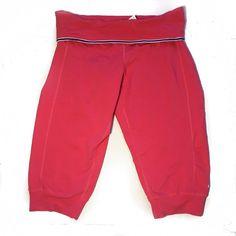 bc895525e3aa Nike Dri-Fit Pink Women s Athletic Capri Pants Size Large Fold Over Top