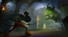 Epic Mickey Concept Art by A.J. Trahan