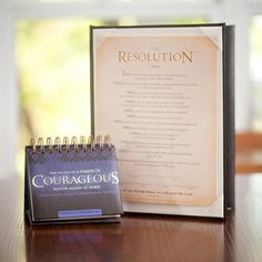 Courageous - The Resolution -  8x10  Frame-Ready Print