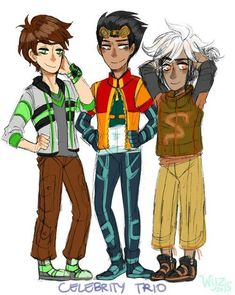celebrity trio needs love, so i did. also their new designs are for my moa!au that i'm working on with cyalumecharm! Heroes United, American Dragon, Avengers Alliance, Mega Evolution, Danny Phantom, Old Cartoons, How To Get Sleep, Amazing Cosplay, Ben 10