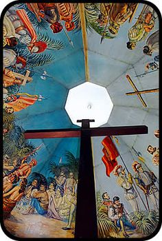 I've been there.it's located beside the church.  Magellan's Cross- Cebu, Philippines