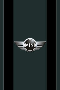 British racing green Mini Cooper convertible black stripes (just like the ones on my Mini!)