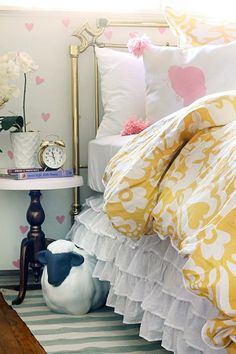 Beautiful pink and gold girl's bedroom designed by @Kristin Plucker Jackson | the Hunted Interior