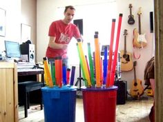 """Pinner says:  """"Nutty Noah and the boomwhackers!  BOOMWHACKER.... Medley.  GO .. No !!!"""""""