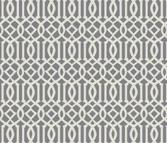 Imperial Trellis-Light Gray fabric by melberry on Spoonflower - custom fabric