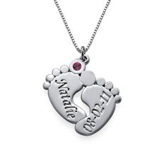 Personalized Baby Feet Necklace | I'd LOVE to have this for Jonah! <3