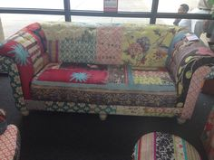Quilted couch