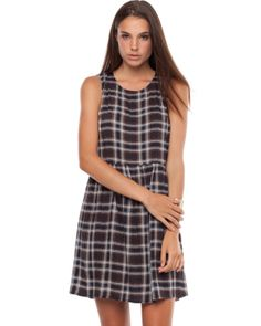Plaid Sleeveless Shift Dress by Atmos&Here Online | THE ICONIC | Australia