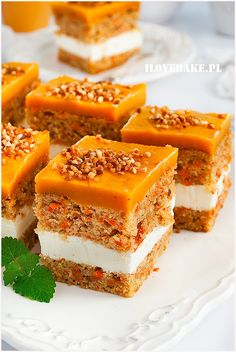 Wyszukiwałeś marchew - I Love Bake Raw Food Recipes, Sweet Recipes, Baking Recipes, Cake Recipes, Dessert Recipes, Polish Desserts, Polish Recipes, Delicious Desserts, Yummy Food