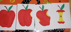 little learners lounge: Apple Sequencing