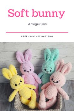 easter crochet patterns This soft bunny amigurumi is a perfect toy for your child. Crochet your own bunny from yarn Alize Softy with this free amigurumi plush pattern. Knitted Dolls Free, Crochet Dolls Free Patterns, Free Crochet, Easter Bunny Crochet Pattern, Plush Pattern, Crocheting, Massage, Beautiful Pictures, Mary